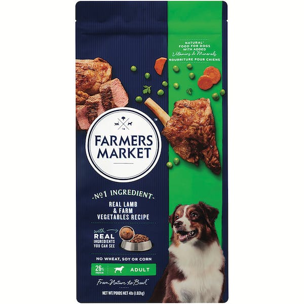 Farmers Market | Real Lamb & Farm Vegetables Recipe | Dry dog food | Front of pack