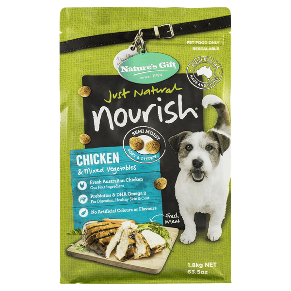 Nature's Gift | Chicken & Mixed Vegetables | Dry dog food | Front of pack