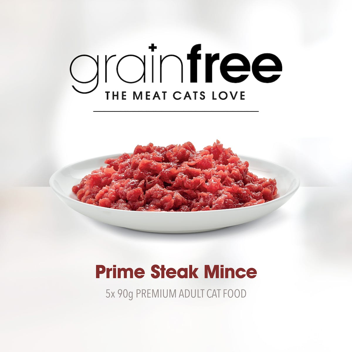 Fussy Cat | Prime Steak Mince 5 x 90g | Chilled cat food | Right of pack