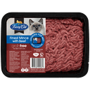 Fussy Cat   Finest Mince with Beef 800g   Chilled cat food   Front of pack