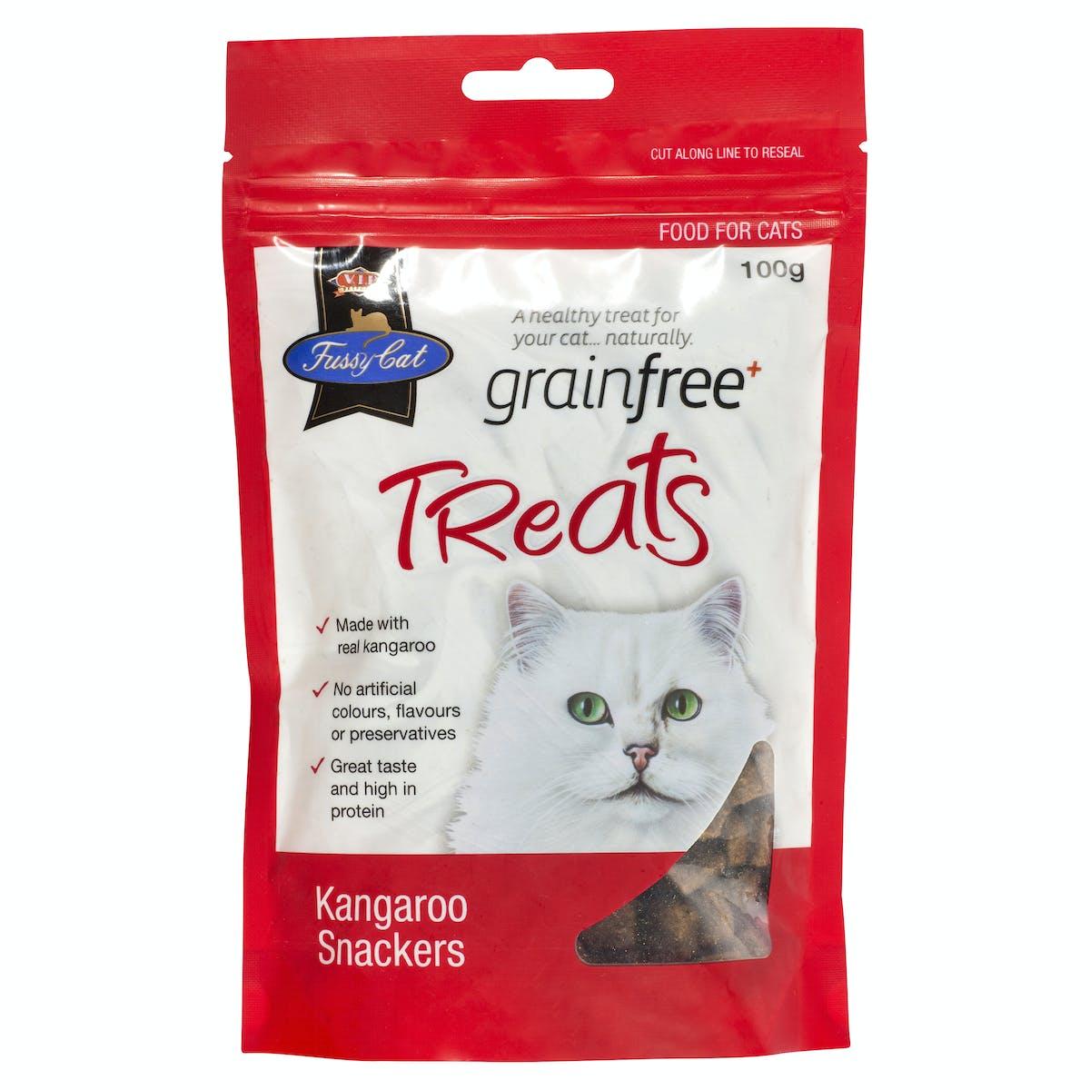 Fussy Cat | Kangaroo Snackers 100g | Cat treats | Front of pack