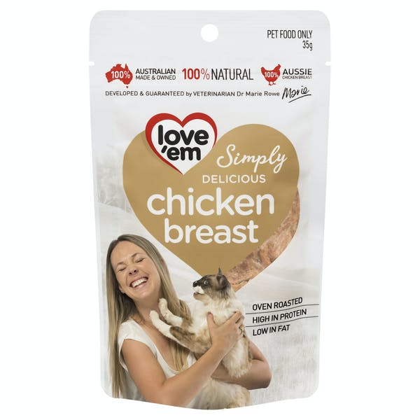 Love'em | chicken breast | Indulge cat | Front of pack