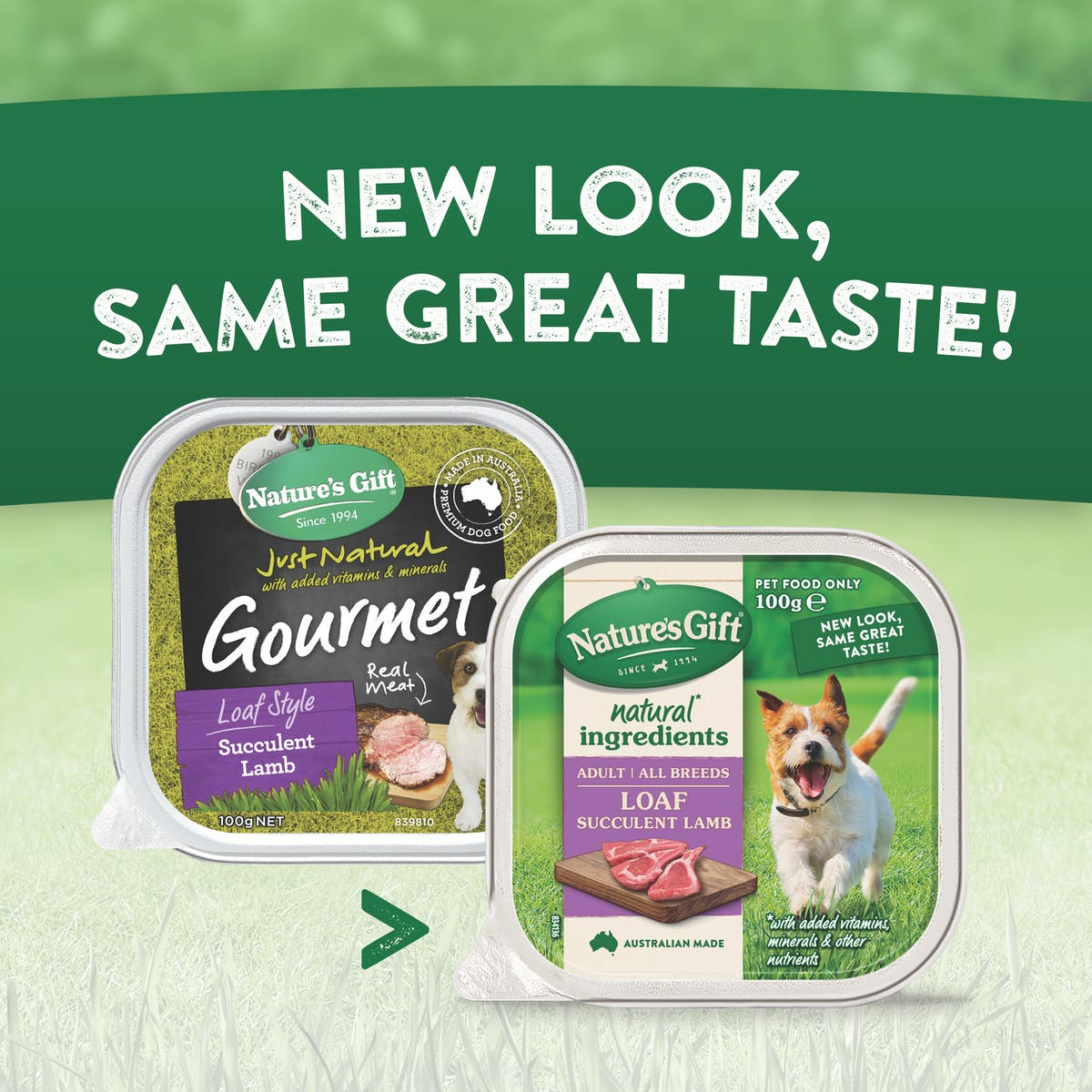 Nature's Gift | Succulent Lamb | Wet dog food | Back of pack