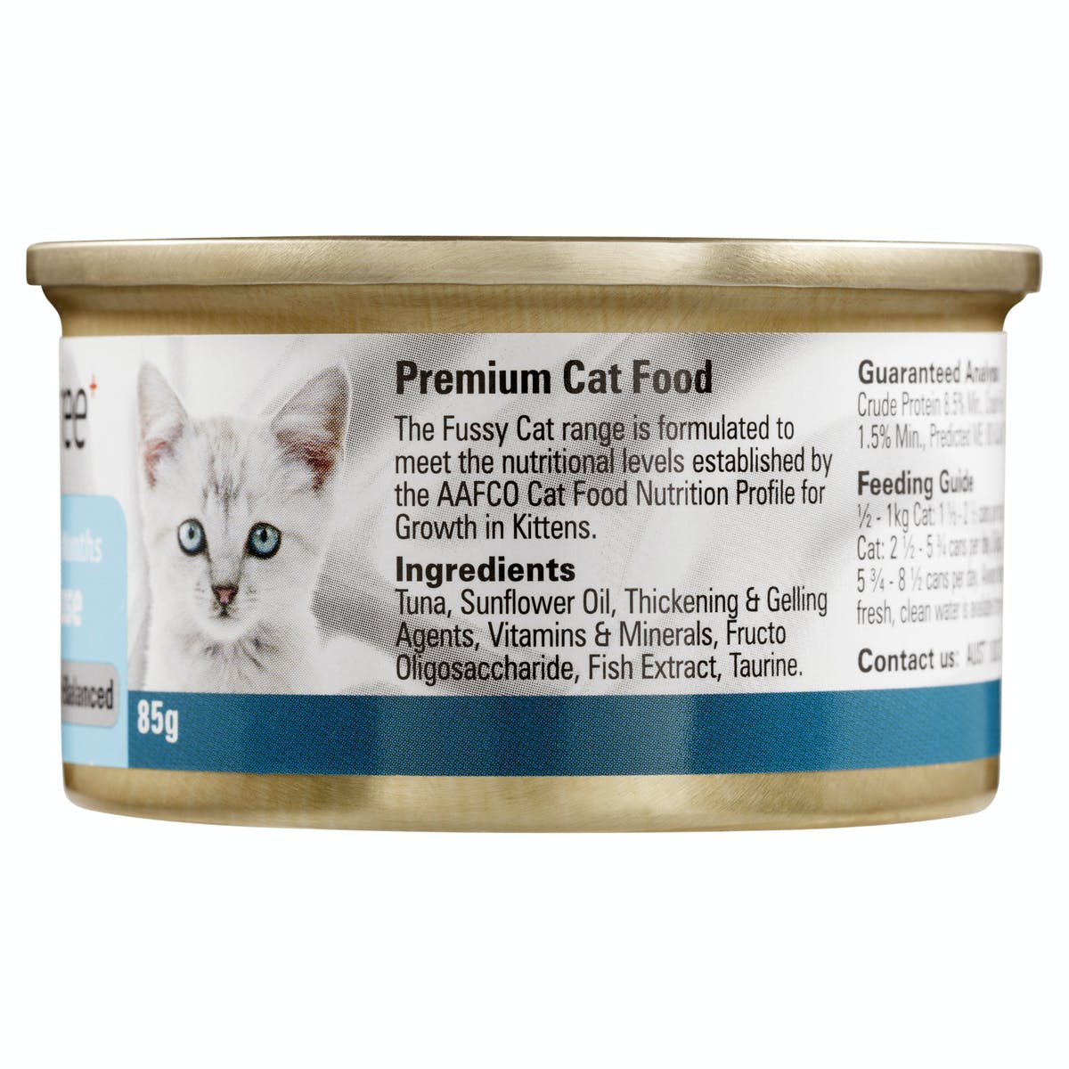 Fussy Cat | Tuna Mousse 85g | Wet Cat Food | Right of pack