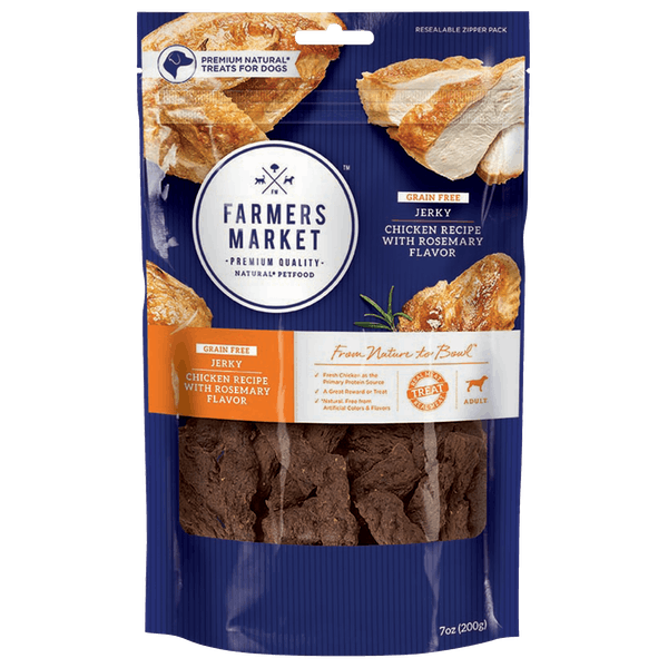 Farmers Market | Chicken with Rosemary Flavor | Dog treats | Front of pack