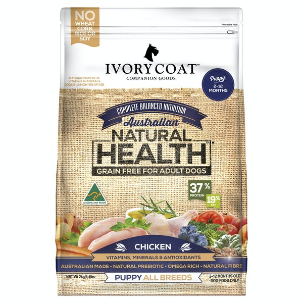 Ivory Coat | Chicken | Grain-free dry dog food | Front of pack