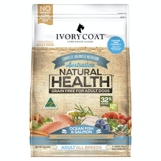 Ivory Coat | Ocean Fish & Salmon | Grain-free dry dog food | Front of pack
