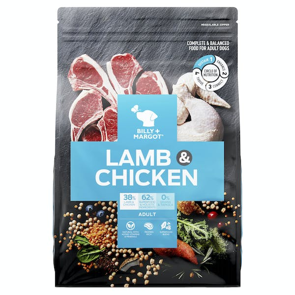 Billy + Margot® | Lamb + Chicken | Dry dog food | Front of pack