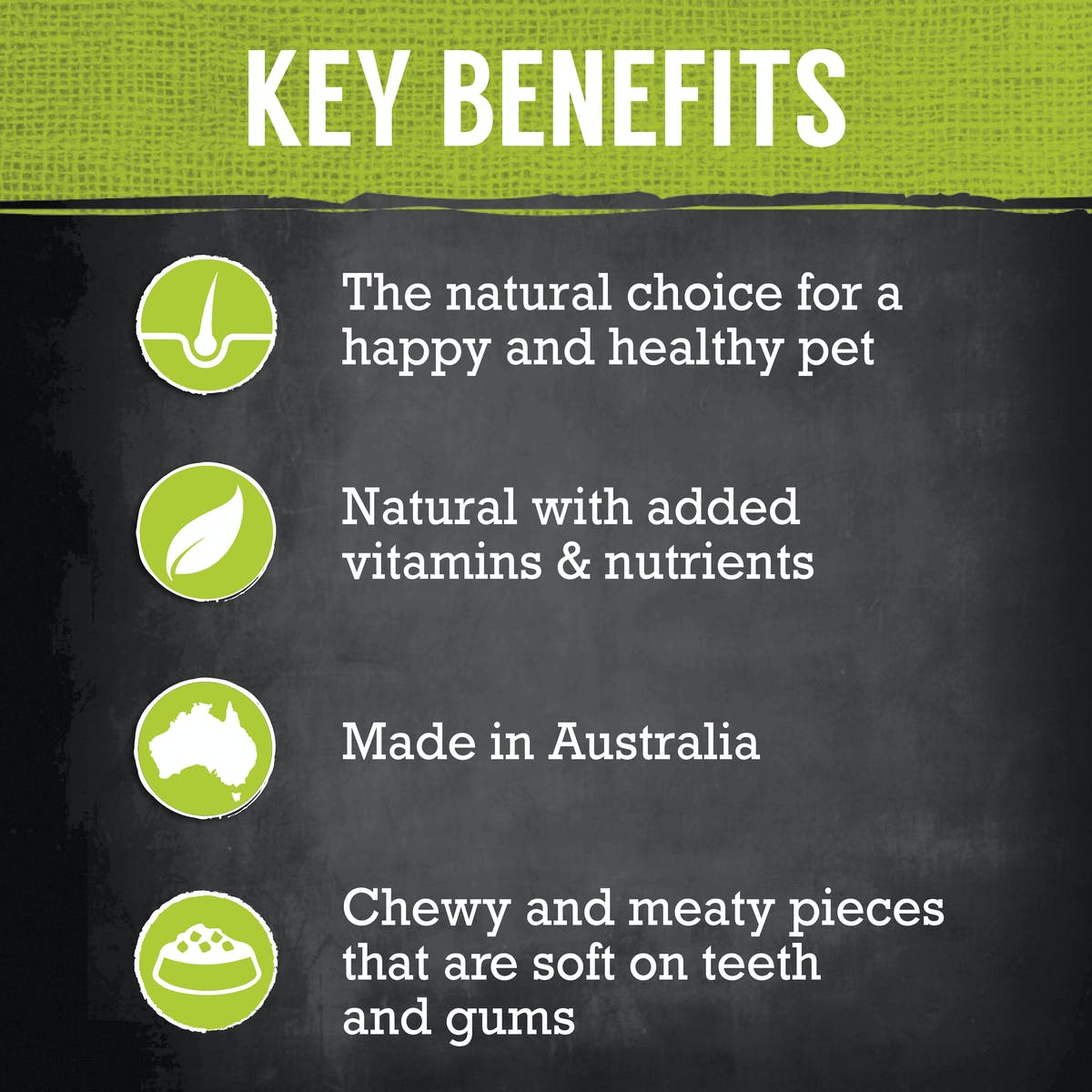 Nature's Gift | Kangaroo & Mixed Vegetables | Dry dog food | Top of pack