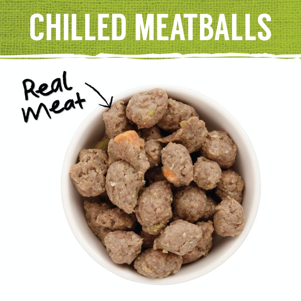 Nature's Gift | Meatballs with Kangaroo, Sweet Potato & Peas | Chilled dog food | Back of pack