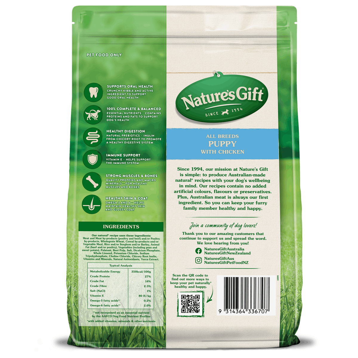 Nature's Gift | Chicken | Dry dog food | Front of pack
