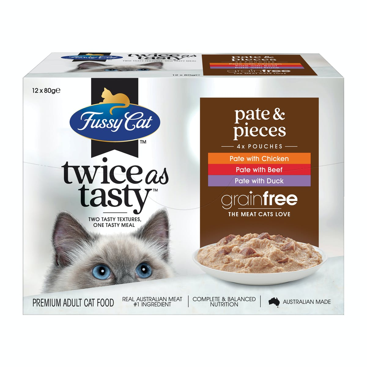 Fussy Cat   Pate & Pieces   Wet Cat Food   Front of pack