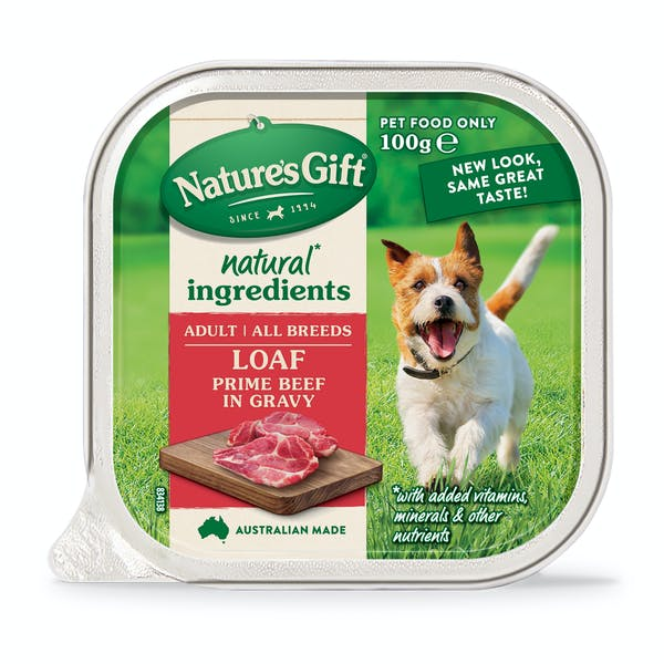 Nature's Gift | Prime Beef in Gravy | Wet dog food | Front of pack