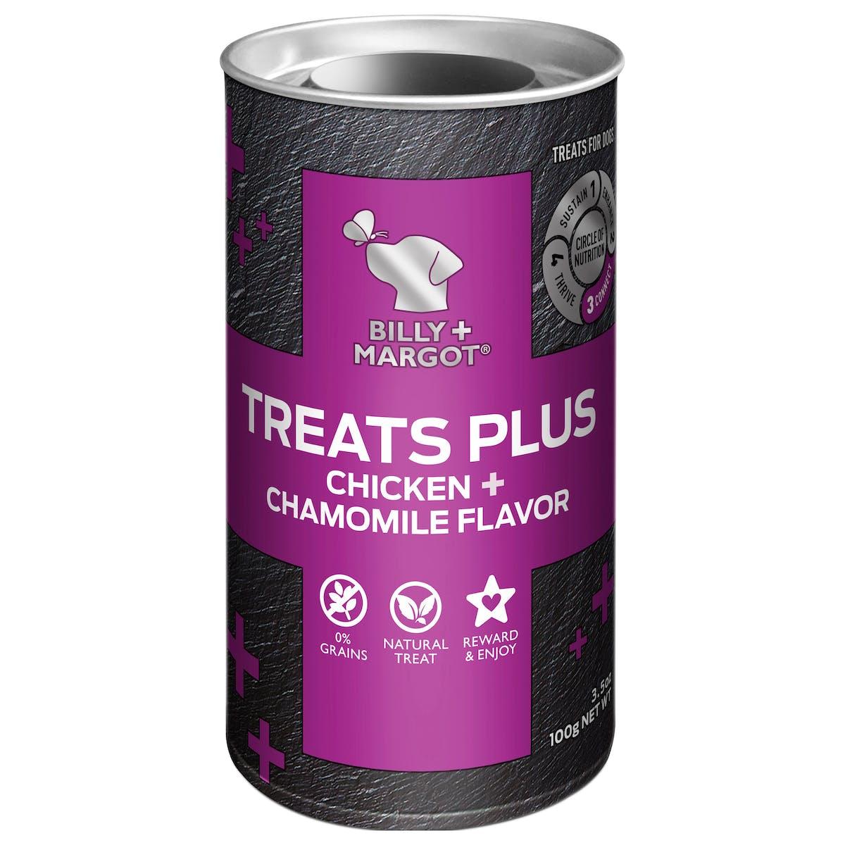 Billy + Margot® | Chicken + Chamomile Flavor | Dog treats | Front of pack