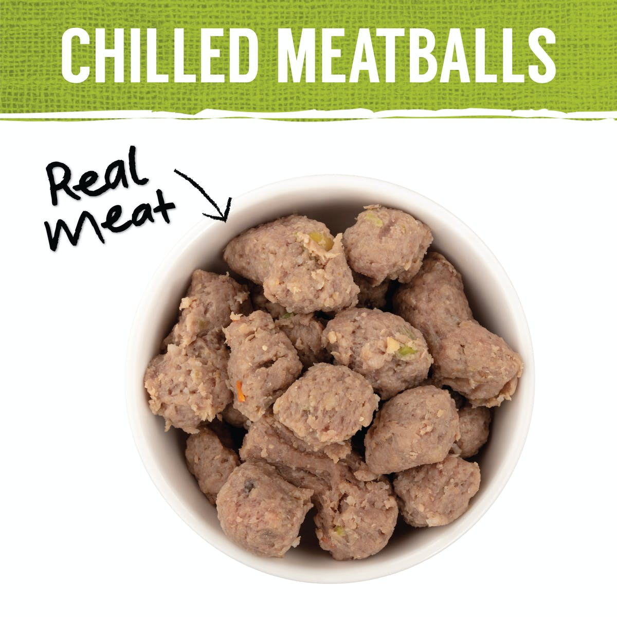 Nature's Gift | Meatballs with Beef, Potato, Carrots & Peas | Chilled dog food | Back of pack