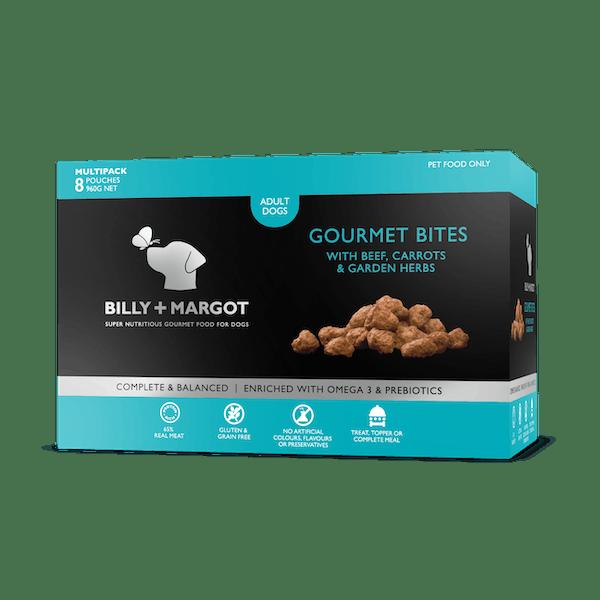 Billy + Margot® | Beef, Carrots & Garden Herbs | Frozen dog food | Front of pack