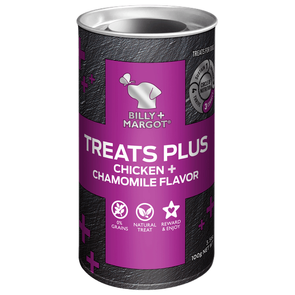Billy + Margot® | Chicken + Chamomile Flavor | Dog treats | Front of pack