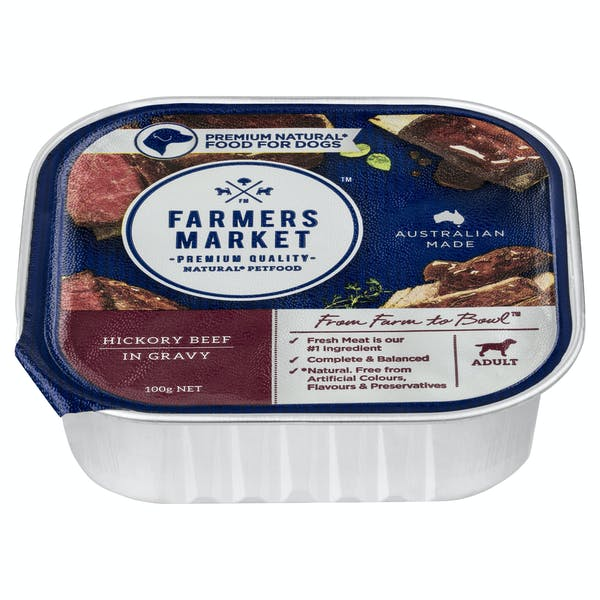 Farmers Market | Hickory Beef in Gravy | Wet dog food | Front of pack