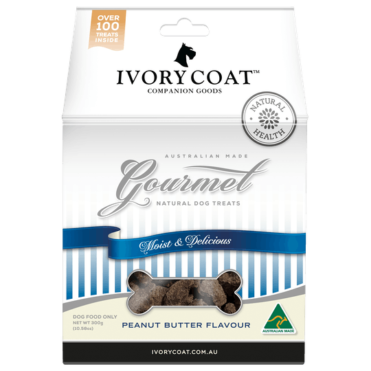Ivory Coat | Peanut Butter | Dog treats | Front of pack