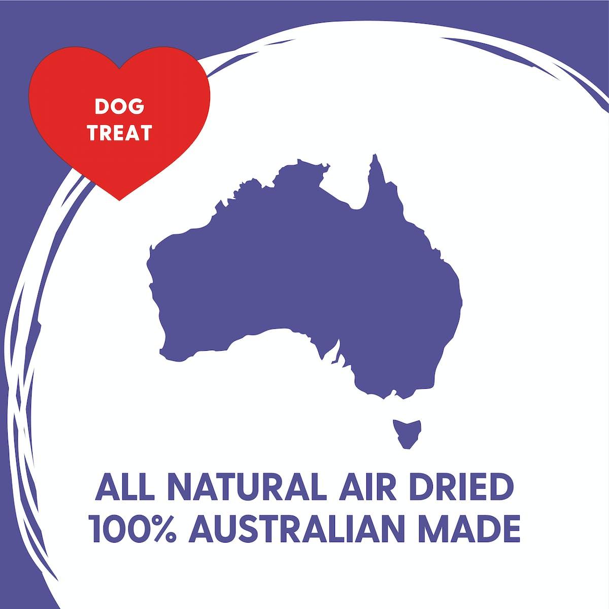 Love'em | Air Dried Lamb Liver | Train dog | Back of pack