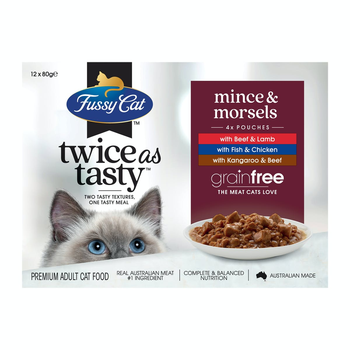 Fussy Cat   Mince & Morsels   Wet Cat Food   Front of pack