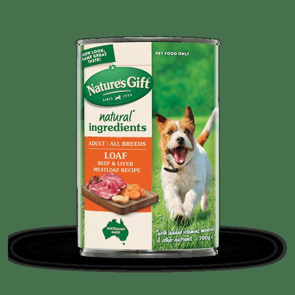 Nature's Gift | Beef & Liver Meatloaf Recipe | Wet dog food | Front of pack
