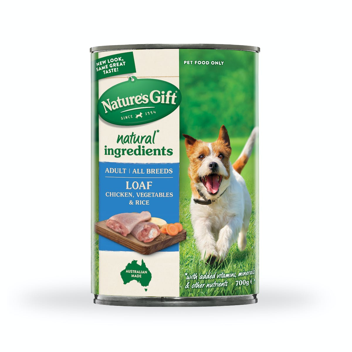 Nature's Gift | Chicken, rice & vegetables | Wet dog food | Front of pack