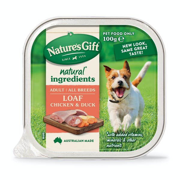 Nature's Gift | Chicken & Duck | Wet dog food | Front of pack