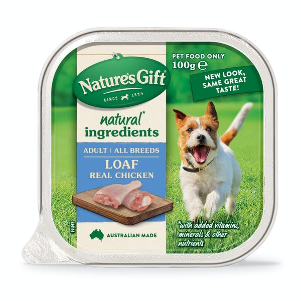 Nature's Gift | Real Chicken | Wet dog food | Front of pack