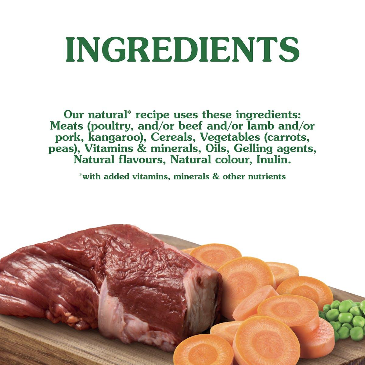Nature's Gift | Kangaroo & Vegetable | Wet dog food | Bottom of pack