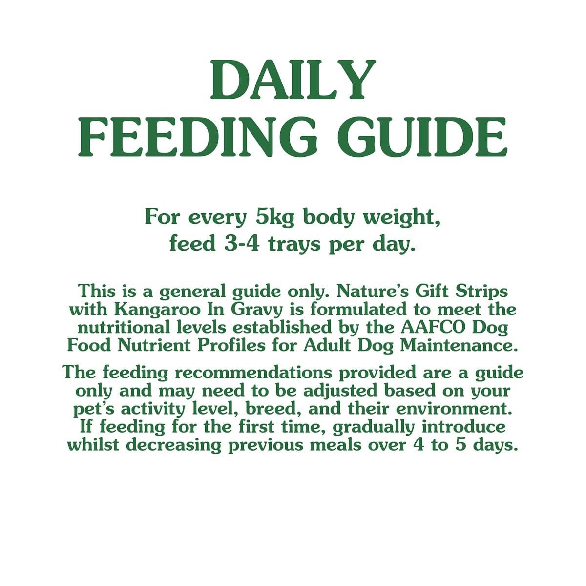 Nature's Gift | Kangaroo in Gravy | Wet dog food | Bottom of pack