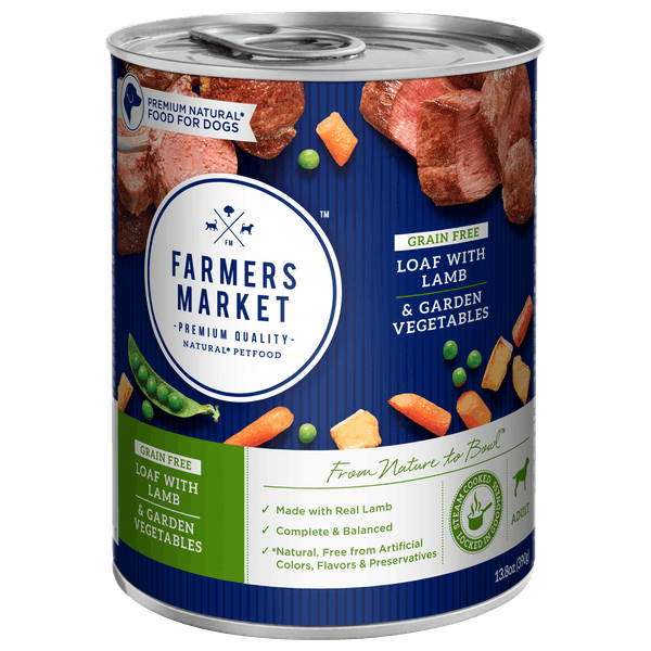 Farmers Market | Grainfree Lamb and Garden Vegetables | Wet dog food | Front of pack