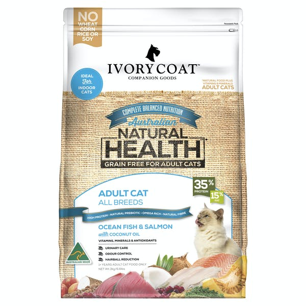 Ivory Coat | Ocean Fish & Salmon | Grain-free dry cat food | Front of pack