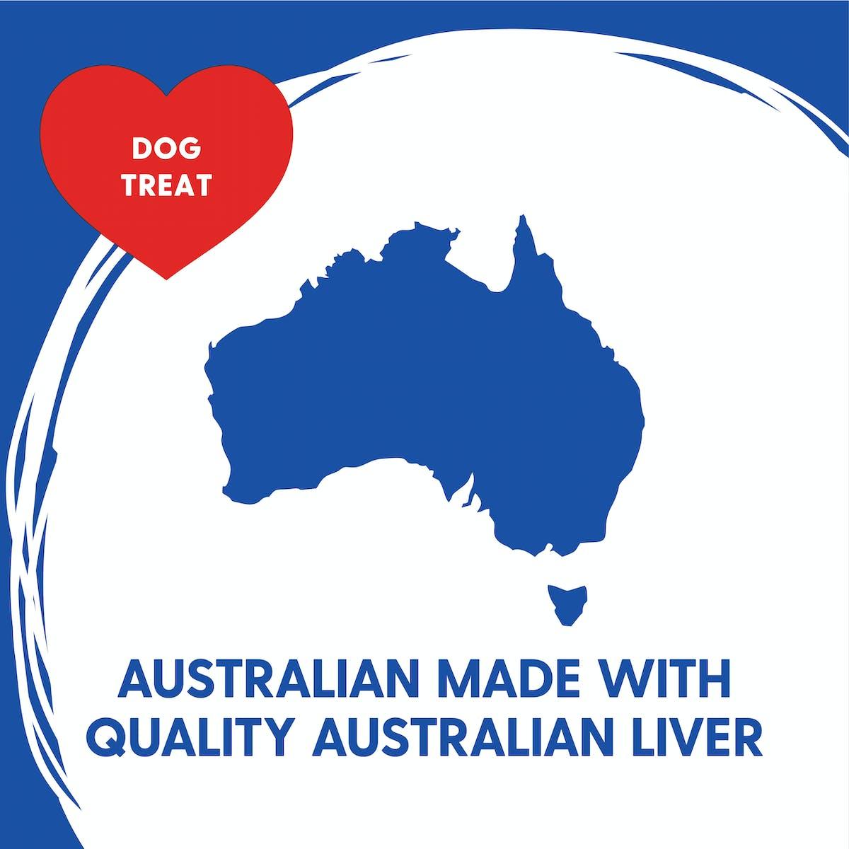 Love'em | Beef & Liver Training Treats | Train dog | Back of pack