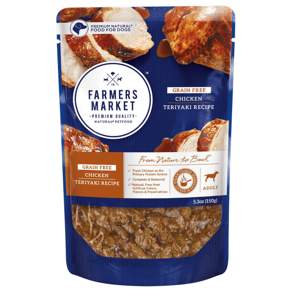 Farmers Market | Chicken Teriyaki | Wet dog food | Front of pack