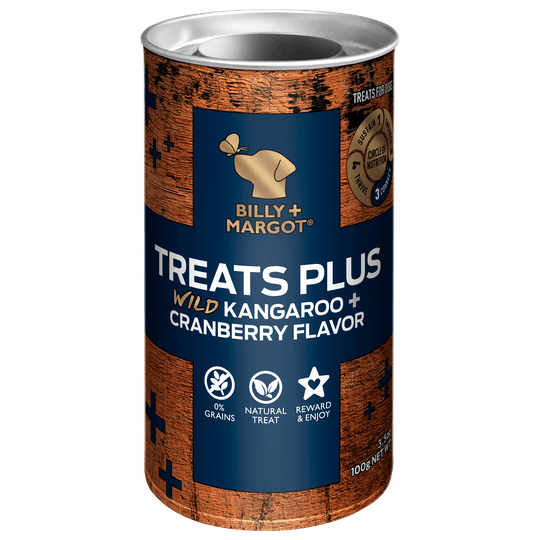 Billy + Margot® | Kangaroo + Cranberry Flavor | Dog treats | Front of pack