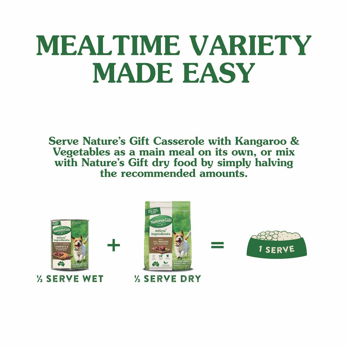 Nature's Gift | Kangaroo & Vegetable | Wet dog food