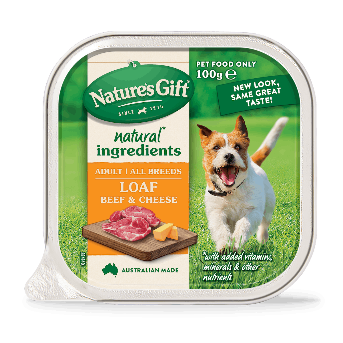 Nature's Gift   Beef & Cheese   Wet dog food   Front of pack
