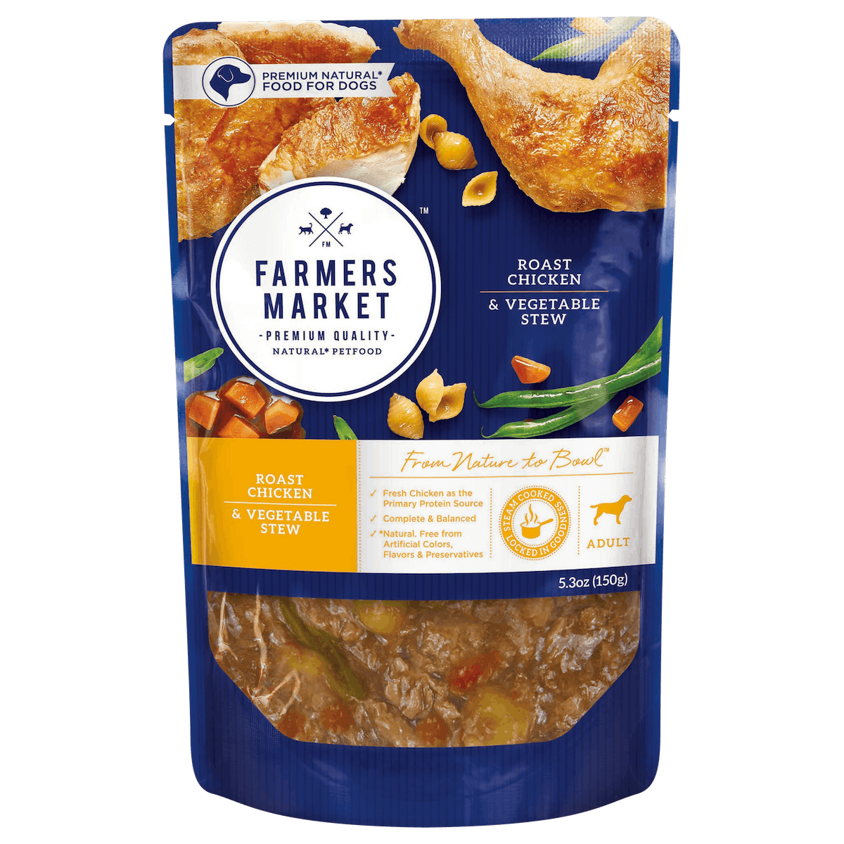 Farmers Market | Roast Chicken & vegetables | Wet dog food | Front of pack