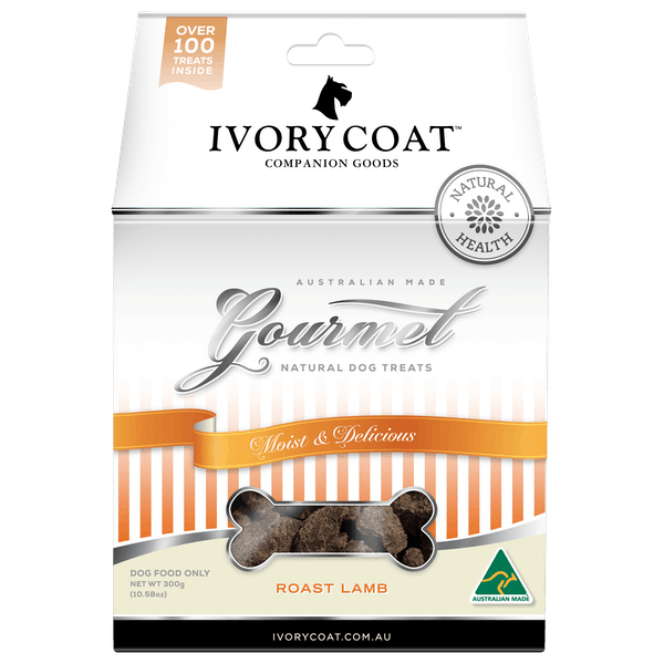 Ivory Coat | Roast Lamb | Dog treats | Front of pack