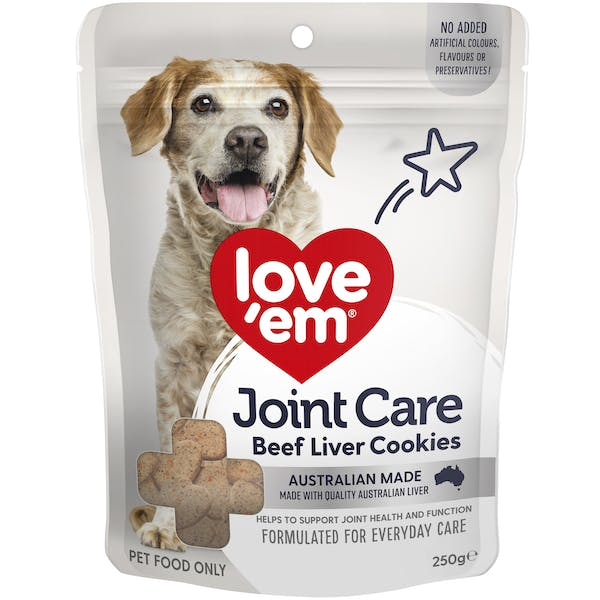 Love'em | Joint Care Beef Liver Cookies | Health dog | Front of pack