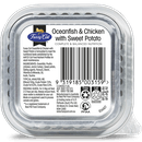Fussy Cat | Oceanfish and Chicken with Sweet Potato 85g | Wet Cat Food | Back of pack