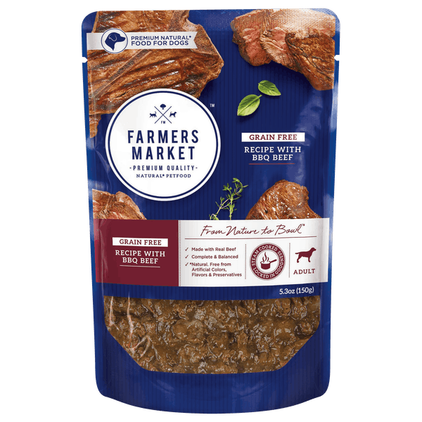 Farmers Market | Grain Free with BBQ Beef | Wet dog food | Front of pack