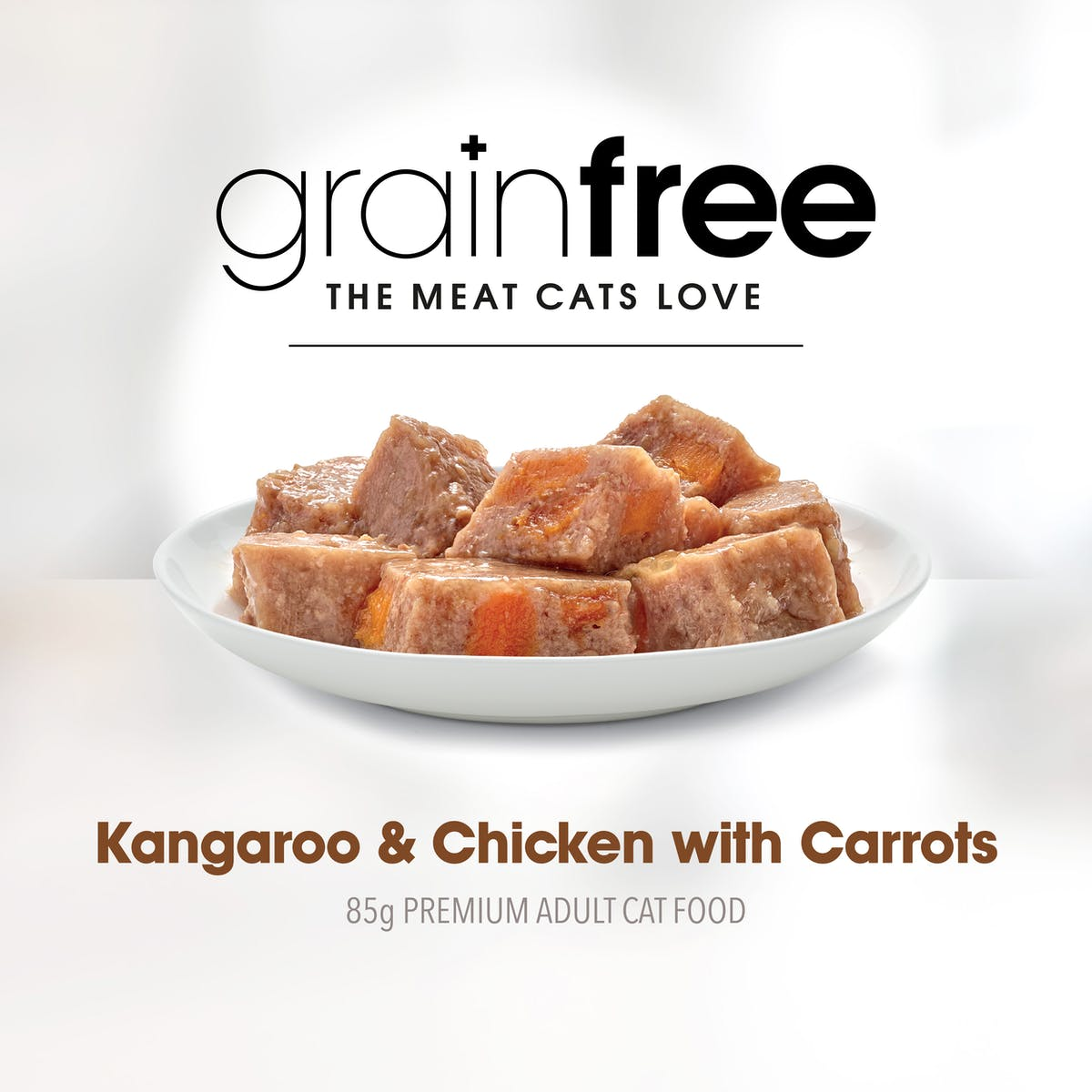 Fussy Cat   Kangaroo and Chicken with Carrots 85g   Wet Cat Food   Right of pack
