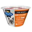 Fussy Cat   Fine Mince with Chicken 70g   Chilled cat food   Front of pack