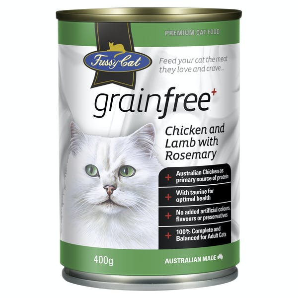 Fussy Cat | Chicken and Lamb with Rosemary 400g | Wet Cat Food | Front of pack
